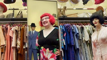 Stylish: Fashionista Nicole Jenkins in her new city shop Circa Vintage.
