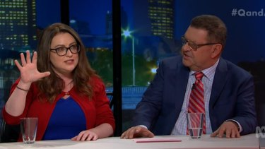 Van Badham, says abuse followed her TV appearance.