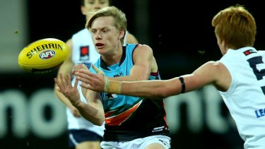 Charlie Spargo, playing for the Allies in the AFL under 18s against Vic Country last year, is now out of reach of the Giants.