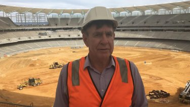 Department of Sport and Recreation director general Ron Alexander at the new Perth Stadium