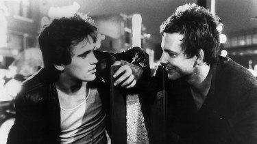 Matt Dillon and Mickey Rourke in <i>Rumble Fish</i>