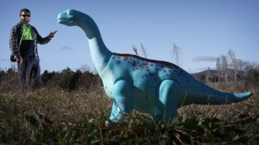 Rickey Caton was arrested by NSW police for pointing a toy dinosaur at police. The charges were dismissed.