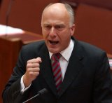 """Senator Eric Abetz says union pay claims are """"neither responsible nor realistic""""."""