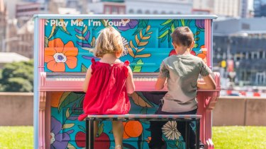 <i>Play Me, I'm Yours</I>  sees 21 decorated pianos placed around Melbourne for anyone to play.