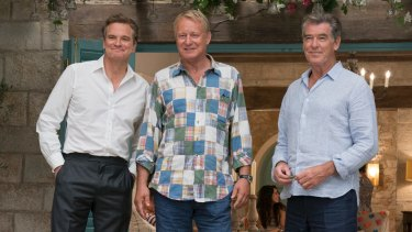 Colin Firth, Stellan Skarsgard and Pierce Brosnan.