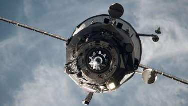 An ISS Progress resupply vehicle approaches the International Space Station last year.