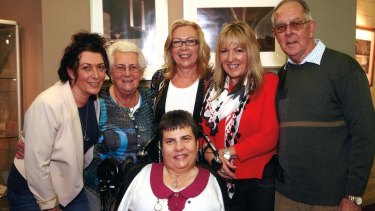 The Rowe family (back row, from left), Andrea, mother Wendy, Merrilyn, Alison and father Ian, with Lyn at front/