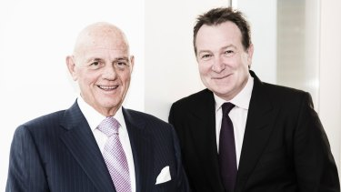 High-stakes game: Solomon Lew and Premier's chief executive officer Mark McInnes.
