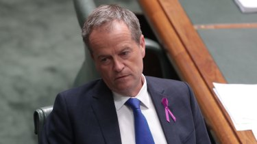 Opposition Leader Bill Shorten during question time at Parliament House.