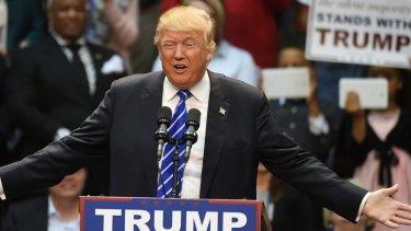 Donald Trump speaking in South Carolina.