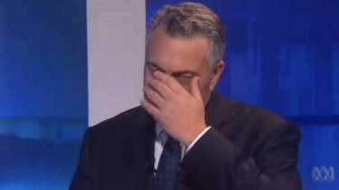 Sarah Ferguson interviews Treasurer Joe Hockey on <i>7.30</i> on budget night.