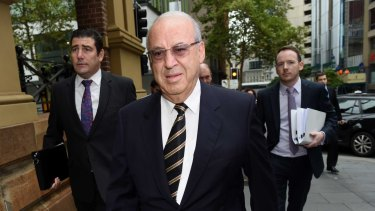 Disgraced former politician Eddie Obeid. Operation Credo probed the connections between members of  Obeid's family and Australian Water Holdings.