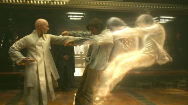 The Ancient One (Tilda Swinton) is a sorceress who gives Dr Strange his Matrix-style training in Kathmandu.