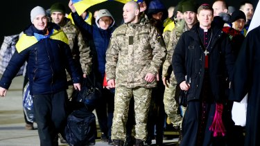 The man in the post office was concerned about the recent prisoner exchange between the Ukrainian authorities and pro-Russian separatists and thought more prisoners should have been released, police said.