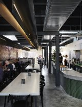 Maria Danos Architecture redesigned a Mont Albert motor garage to create Mister and Miss Cafe.