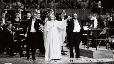 Dame Joan Sutherland performs at the Opera House.