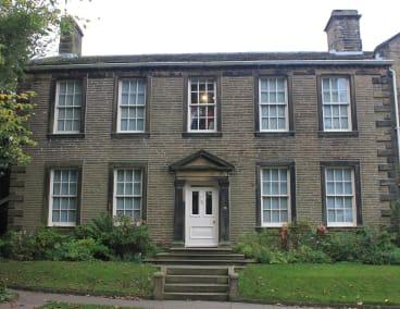 Haworth parsonage, home of the Brontes.