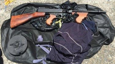 The gun seized in Marrickville.