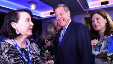 Queensland Opposition Leader Tim Nicholls arrives at the LNP Election function. Photo: AAP/Tracey Nearmy.