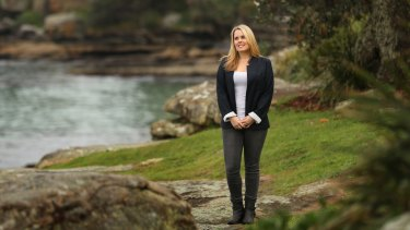 Governess Dana Anderson, who finds teaching children rewarding, in Manly.