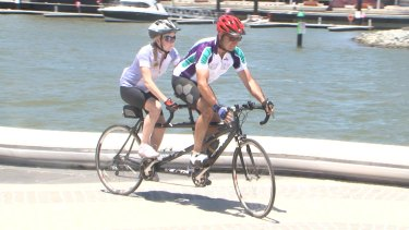 Ms Atkins and Mr Parrotte also ride regularly with other tandem cyclists.