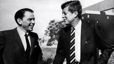 Frank Sinatra (left) and John F. Kennedy.