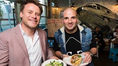 George Calombaris (right) and business partner Radek Sali.