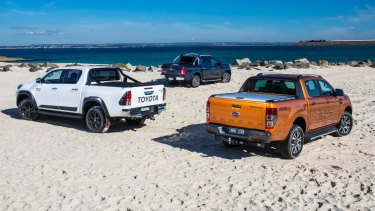 Toyota HiLux TRD and Ford Ranger Wildtrak.