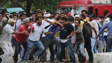 Supporters of the Dera Sacha Sauda sect attacked a member of the media.