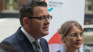 Premier Daniel Andrews and Minister for Public Transport Jacinta Allan announce the Metro Rail Tunnel project.