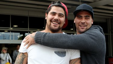 Banned: Brothers David and Andrew Fifita.