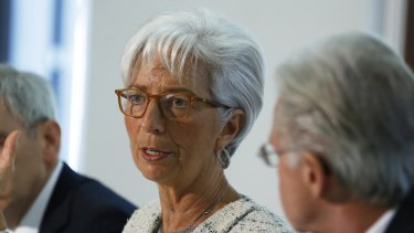 Christine Lagarde, managing director of the International Monetary Fund (IMF), in London on Friday.