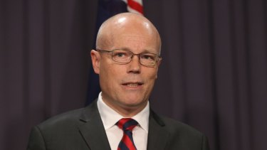 Alastair MacGibbon, special adviser to the Prime Minister on cyber security , during the press conference.