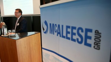 "McAleese, which now has a market value of just $28.3 million, has also been considering options for ""legal recourse""."