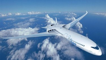 Concept hybrid electric airliner from Airbus and EADs in competition with magniX.