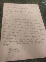 The apology letter Matthew Gordon says he was forced to write.