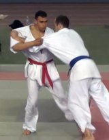 Attacker Mohamed Lahouaiej Bouhlel, left, after seeming to injure his opponent while competing in a martial arts competition in 2010.