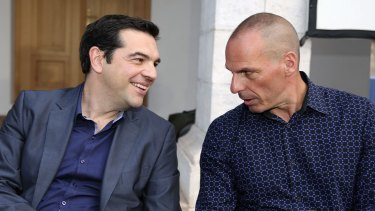 Greece's Prime Minister Alexis Tsipras (left) with Yanis Varoufakis in January.