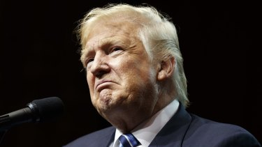 Republican presidential candidate Donald Trump speaks at a rally in Canton, Ohio, last week.