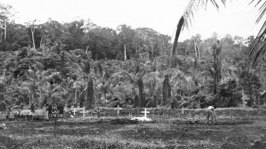 Some of the 160 soldiers massacred at Tol were buried in a nearby cemetery, while others remained in mass graves.