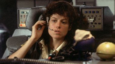 Sigourney Weaver in the original <em>Alien</em>. The next three movies would lead to the 'back entrance' of the original movie.
