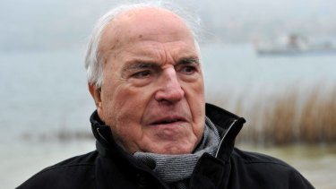 Former German chancellor Helmut Kohl.