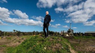 Glenvill chief executive Len Warson at the Alphington site last year.