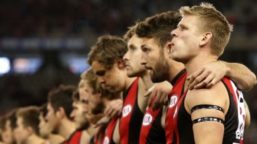 Standing by his mates: Michael Hurley has signed a five-year deal to remain with the Bombers.