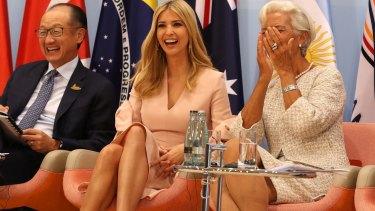 Ivanka Trump and Managing Director of the International Monetary Fund Christine Lagarde during the G20 summit.