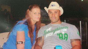 Ricardo Young and his partner, Nakita Regan. Mr Young, a New Zealander, has been detained on Christmas Island because his visa was revoked.