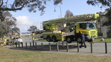 The ACT's fire service only has one Bronto aerial firefighting platform.