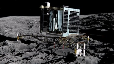 Rosetta's lander, Philae, lands on the surface of a passing comet - one of the most miraculous scientific achievements of th 21st Century