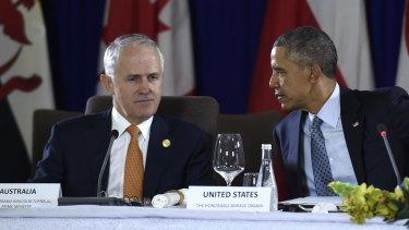 Malcolm Turnbull ponders a response to US President Barack Obama.