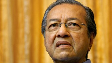 Former Malaysian president Mahathir Mohamad in 2008.